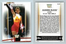 ALUNDRA    BLAYZE    #R-37     WWE  WOMEN  DIVISION 2017  TOPPS    *WWEJUL17
