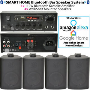 Bar/Restaurant Bluetooth Wall Speaker System - Background Music Wireless Amp Kit
