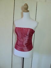 element rose pink taffeta bustierre lace  up back *