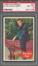 1956 Bubbles Elvis Presley #24 Elvis' Movie Debut PSA NM-MT 8 *1038