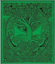 Green Tree De Vida Pagan Doble Cama Sofá Tirar Colgante De Pared Funda Sofá Festival