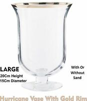 Hurricane Vase Candle Holder Centrepiece Lantern Glass Storm Wedding Table 20cm