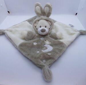 COMFORTER by AUCHAN FRANCE Lovely Teddy Bear with Bunnie ears Hood Cream & Beige