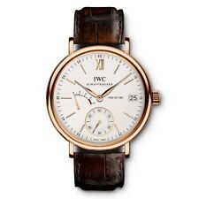 IWC Portofino Hand Wound Eight Days Silver Dial Pink Gold 45mm IW510107
