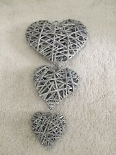 Set Of 3 Wooden  Hearts