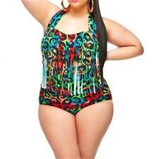 US Plus Size 2PCS Women Bikini Set Swimwear Push-up Padded Tassel Bathing Suit