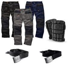 Scruffs Worker Plus Trousers Combat Cargo Work Pants Black 28 29 c64f0fa6b47e