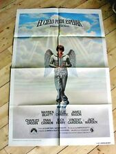 HEAVEN CAN WAIT Orig ANGEL Movie Poster WARREN BEATTY JULIE CHRISTIE JAMES MASON