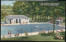 ATLANTA GA Fort McPherson Service Men's Pool Vintage PC