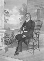 Virginia JOHN RANDOLPH of Roanoke Old Republicans ~ Old 1863 Art Print Engraving
