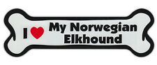 Dog Bone Shaped Car Magnets: I LOVE MY NOWEGIAN ELKHOUND