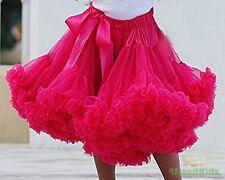 Hot Pink Girl Tulle Pettiskirt Dance Party Skirt Sz 2-3