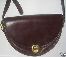 Brown leather half moon shape Original Aigner handbag