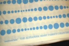 Alexander Henry Fabric Storybook Bead vintage 2006  6973-A Blue & White