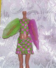 BRATZILLAZ PINK & GREEN VINYL DRESS CLOTHES ALSO FITS MONSTER HIGH GIRL DOLLS