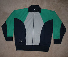 VTG SPEEDO Track Jacket Gray Blue Green Yugoslavia Olympics Swimming Large L Zip