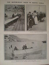 Printed photos Motor Boat week in Monte Carlo Monaco France 1906