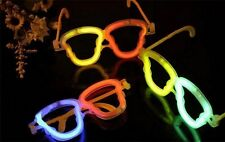 "40Pcs 8"" Luminescent Glow Sticks + 20 Skull Eye Glasses Shades Frame Neon Rave"