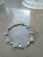 Bluten Damen Armband mit Diamanten ca.0,73 ct Silber 925
