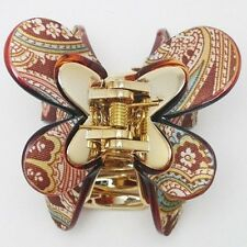BUTTERFLY Hairclip Luxury PAISLEY BARRETTE CLAW HAIR ACCESSORY HC28