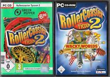Roller Coaster Coaster 2 + addon wacky worlds MONTAGNES RUSSES Collection PC