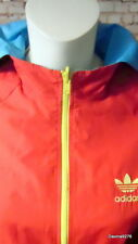 vintage adidas Reversable hooded jacket red turquoise New