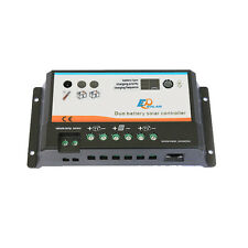10A 12V 24V EP EPIPDB-COM Dual Duo Two Battery Solar Charge Controller Regulator