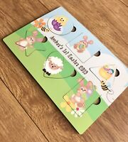 Personalised Baby's First Easter Gift Wooden Shape Sorter Toy Cute Gift