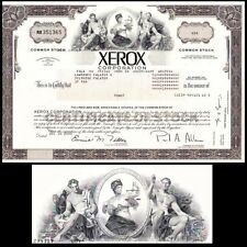 Xerox Corporation NY 2000 Stock Certificate
