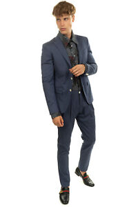 RRP€653 CC COLLECTION CORNELIANI Suit Size 48 / M Pleated Pinstripe Notch Lapel