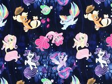 FAT QUARTER  MY LITTLE PONY FARAWAY ADVENTURES  COTTON FABRIC SPRINGS HASBRO  FQ