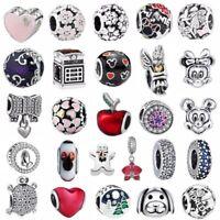 S925 Siver charms dangle Ciondoli bead For European Argento bracciale bracelet