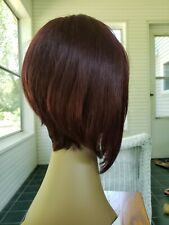 100% Human Hair Full Lace Front Wig STRAIGHT Short Brown EW 2 NWT