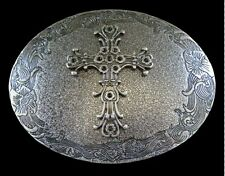 METAL WESTERN IRISH CELTIC CRUZADE CROSS RELIGION BELT BUCKLE BOUCLE CEINTURE