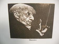 "Art print Charles Bragg artist black Lithograph ""maestro"" Duotone Signed"