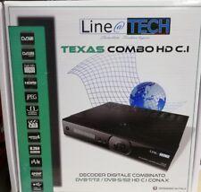 Decoder SAT+DTT Line@TECH TEXAS COMBO HD Ci CONAX DVB-T/T2 DVB-S/S2