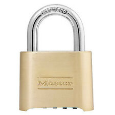 "Master Lock 175 2"" Wide Resettable Combination Brass Padlock"