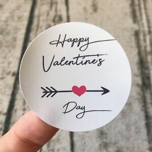 Valentine's Day Favor Stickers Cafe Shop Bar Wedding Gift Labels 4cm 5cm 6cm 8cm