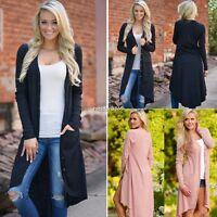 Women Ladies Long Sleeve Knitted Cardigan Loose Sweater Outwear Jacket Coat N4U8