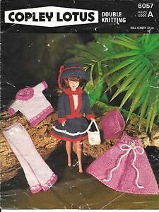 Copley 6057 Vintage Knitting Pattern, Fashion/Sindy/Barbie Doll Clothes DK