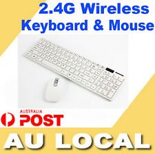NEW White 2.4G Wireless Keyboard and Optical Mouse USB Receiver Set For Windows