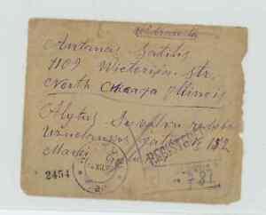 Litauen 1920 Einschreiben in die USA Marken rückseitig