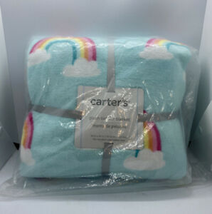 Carters Plush Toddler Blanket Colorful Rainbows