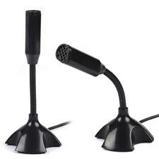 USB Stand Mini Desktop Mic for PC Laptop Studio Speech Microphone Practical DH