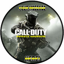 "A 7.5"" Round Call of Duty (COD) Infinite Warfare Personalised Cake Topper ICING"