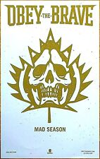 OBEY THE BRAVE Mad Season 2017 Ltd Ed RARE Poster +FREE Metal Hardcore Poster!