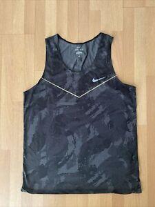 Nike Running Mens Digital Camo Race Day Elite Running Singlet Jersey Tanktop M