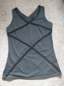 Spanx Black Hourglass Racerback V-Neck Top with Trim Size Small UK Size 10