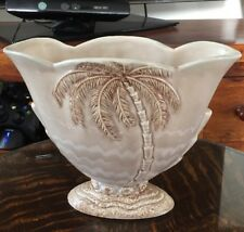 vintage beswick palm tree vase with original flower stem screen