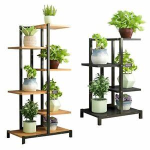 4/6 Tr Indoor Outdoor Metal Plant Flower Pot Display Rack Stand Bookshelf Shelf